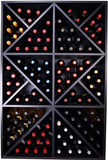 Vinoteca con botelleros de madera a tu alcance - Vinotecas de madera ...