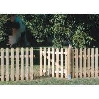 Puerta valla madera natural