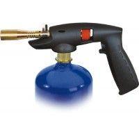 Soldador pistola botella azul
