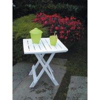 Mesa resina plegable blanca