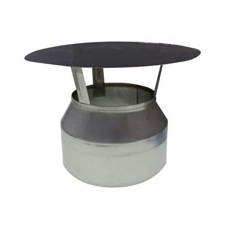 Sombrero inoxidable antilluvia eco 200 mm.