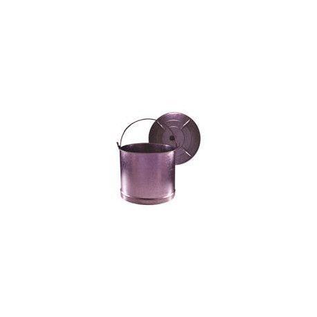 Cubo recto galbanizado con tapa 40cm