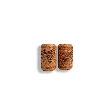 Corcho botella cilindrico 500 uni. 38 x 24 mm.