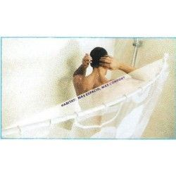 Barra de baño recta con curva habitath