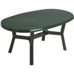 Mesa oval resina 140 cm