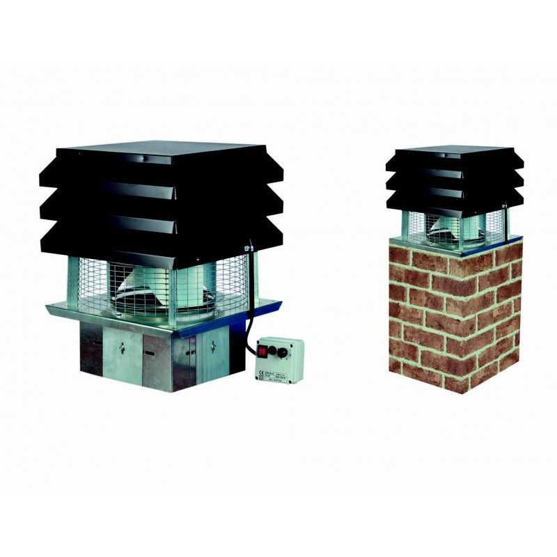 Extractor aspirador el ctrico chimeneas - Extractores de humo ...