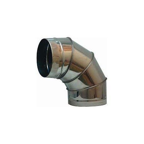 Codo acero inoxidable sectores 90º 250 mm.