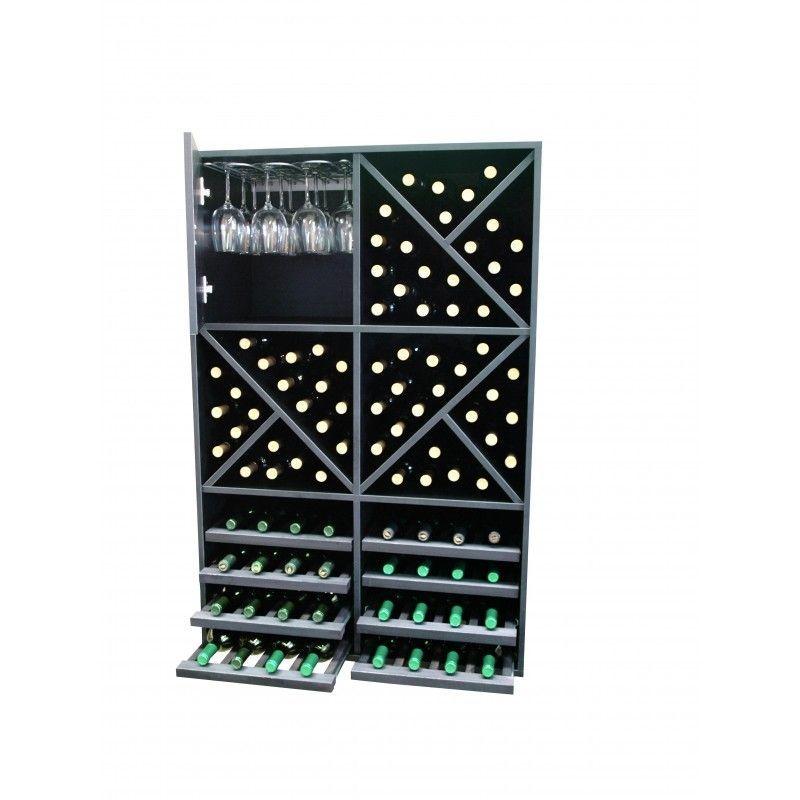 Botellero modular merlot super copas - Botelleros de madera para vino ...