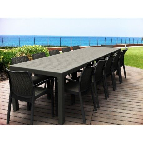 Mesa rattan extensible symphony for Muebles terraza rattan pvc chile