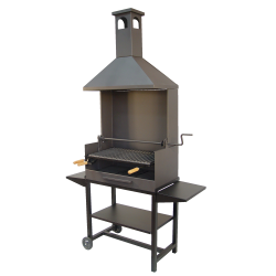Barbacoa carbon chimenea parilla inox.
