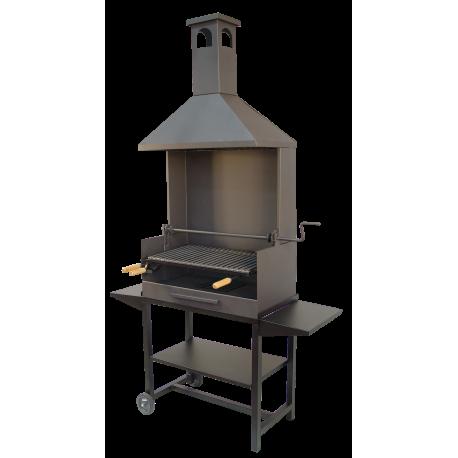 Barbacoa carbon chimenea parilla inox.