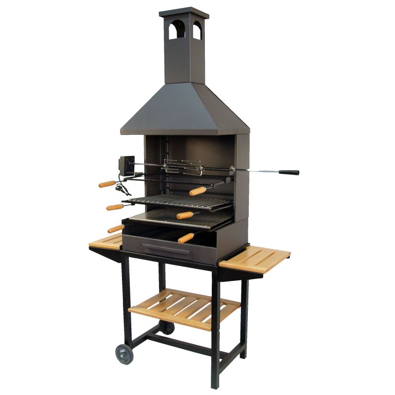 barbacoa forja total chimenea imex el zorro. Black Bedroom Furniture Sets. Home Design Ideas