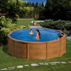 Piscina redonda imitacion madera 460 eco Gre
