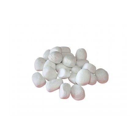 Piedras decorativas blancas biochimeneas