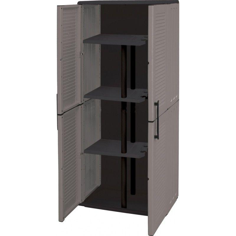 Armario resina alto escobero gris vam for Ikea armarios de resina para exterior