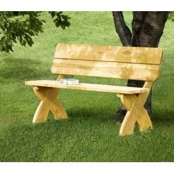 Banco madera natural jardin Profer
