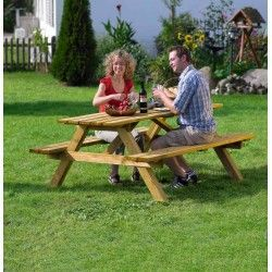 Mesa madera picnic profer
