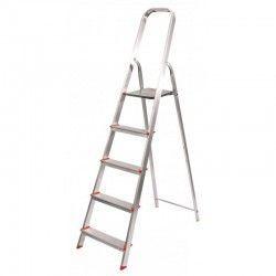 Escalera 5 peldaños aluminio Profer Home
