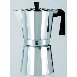 Cafetera aluminio Oro Ley 12 taza