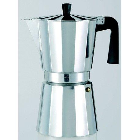 Cafetera aluminio Oro Ley 9 taza