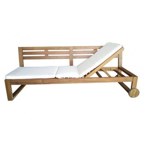 Banco madera grande cama - Banco madera jardin ...