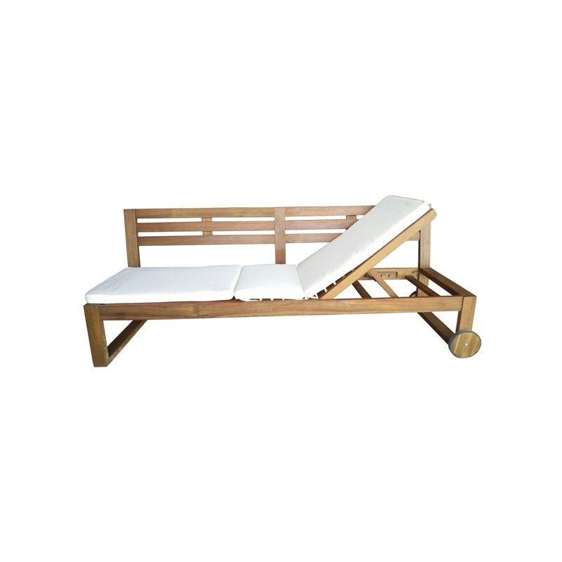 Banco madera grande cama