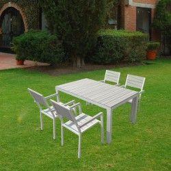 Mueble aluminio terraza geometric