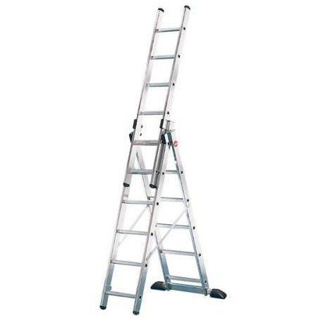 Escalera industrial combinada 3 Tramos Profistep Hailo