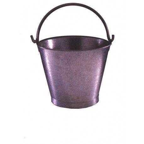 cubo metalico con asa