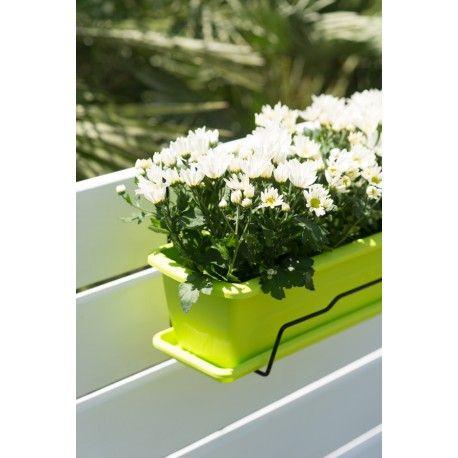 Jardinera plástico pistacho soporte
