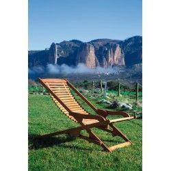 tumbona madera relax