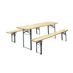 mesa bancos madera plegables