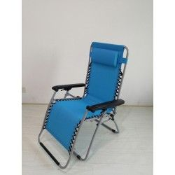 tumbona relax plegable azul