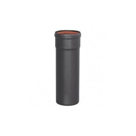 Tubo estufa pellet acero negro 50 cm 80 mm Practic