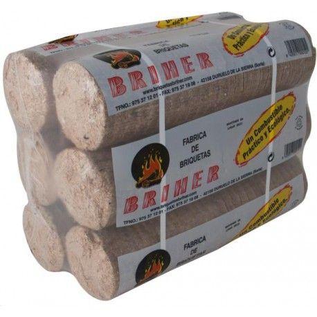 Briqueta combustible compacta Briher