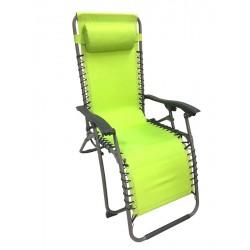 Tumbona relax plegable verde lima